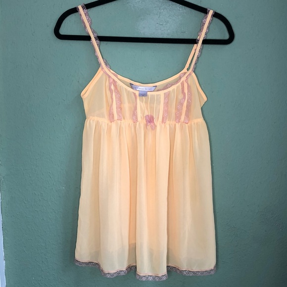 Victoria's Secret Other - Victoria's Secret Yellow Babydoll Lingerie  XS